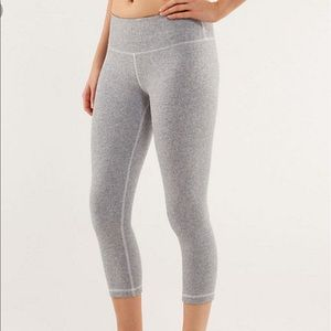 Lululemon Wunder Under Herringbone Crops